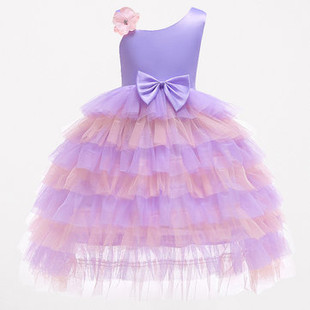 Girls Cake Lace Layered Dress For 2Y-9Y -US#31.99