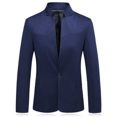 Cotton Slim Fit Single-breasted Casual Blazer-US$38.88