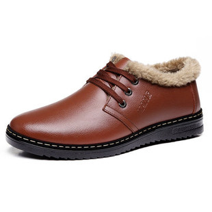 Men Plush Lining Casual Leather Shoes -US$34.07