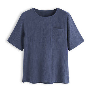 Two-Sided Men 100% Cotton Solid Color O-neck Short Sleeve Loose Cozy Casual T Shirts-US$17.65