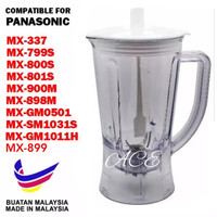 BLENDER JUG BIG 1080 FOR PANASONIC MX-GM1011H, MX-800S, MX-801S, MX-900M, MX-337, MX-898M, MX-SM1031S, MX-GM0501, MX-799S,MX899 (Made in Malaysia0 RM27.00