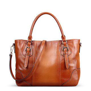Women Genuine Leather Brush Vintage Tote B -US$127.79