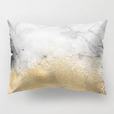 """20*12"""" Marble Stripe Peach Skin Velvet Pillowcase-RM21.30"""