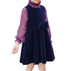 2Pcs Girls Bow-Knot Casual Dress For 2-9Y-US$171.4