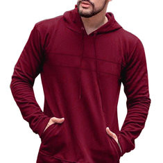 Pullover Long Sleeve Big Pocket Hooded Sweatshirt-US$27.85