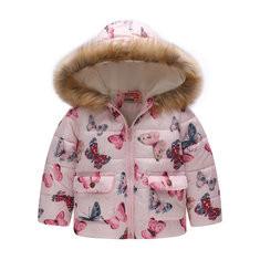 Girls Faux Fur Winter Coat For 2Y-9Y-US$28.99