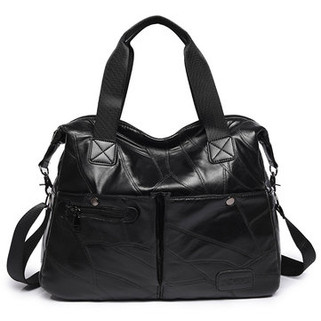 Women Genuine Leather Plaid Designer Hand -US$36.47