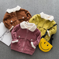 Vintage Style Boys Girls Thick Jacket For 6-36M