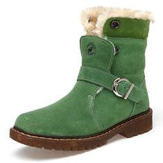Boys Genuine Leather Keep Warm Boots