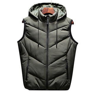 Mens Hooded Thickened Warm Slim Fit Outdoor Vest-US$37.88