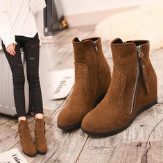 Suede Height Increasing Warm Snow Boots-RM107.67