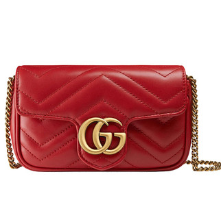 (Pre-order) Authentic Brand New Gucci GG Marmont Matelassé Leather Super Mini Bag RM3,980.00