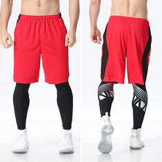 2pcs Men Fitness Bottom Set -US$32.45