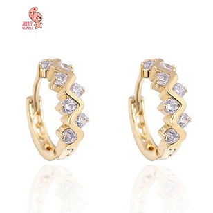 18K Gold Plated Zircon Earrings - RM32.78