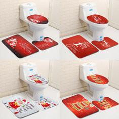 3PCS Christmas Toilet Seat Covers Mat Set-US$12.45
