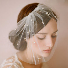 Bridal Elegant Veil Cover Face Hair Accessories-RM56.81