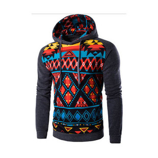 Christmas Cotton Hooded Printed Sweatshirt -US$14.35
