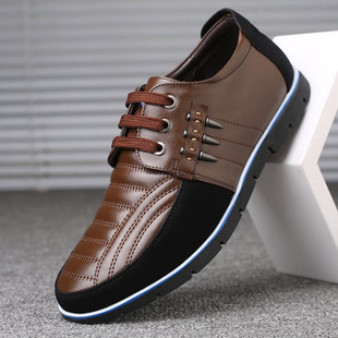 Men Genuine Leather Casual Driving Shoes -US$45.02