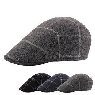 Lattice Cotton Beret Cap -US$9.20