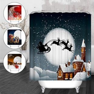 180x180cm Christmas Waterproof Shower Cur-US$18.89