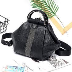 Women Faux Leather Black Multifunctional Shoulder Bag-RM123.43