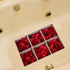 6pcs 13x13cm Rose Pattern 3D Anti Slip Waterproof Sticker-US$6.30