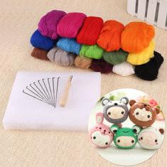 16 Colors Wool Fibre Handmade Craft Sets-US$20.92
