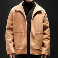 Men Casual Pure Color Loose Jackets-US$59.99