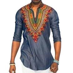 Stylish 3D African Ethnic Printed Tee-US$21.39