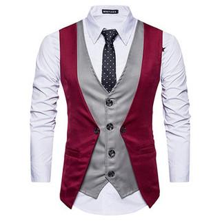 Men Faux Two Piece Vest-US$23.69