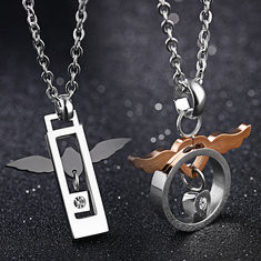 Angel Wing Couple Necklace-US$10.52