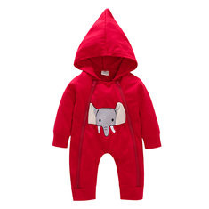 Elephant Print Baby Jumpsuit For 6-36M