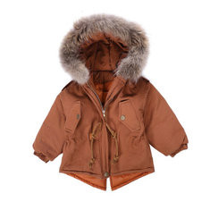 Kids Winter Coat With Fur Cap For 2-11Y-US$66.99