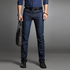 Men's Casual Business Stretch Slim Jeans -US$19.89