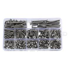 240Pcs M4 304 Stainless Steel Hex Socket Flat Head Screw-US$16.99
