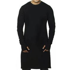 Mid Length Breathable Long Sleeve Slim T Shirt-US$15.38