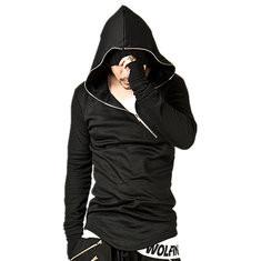 Casual Stitching Diagonal Zipper Hoodies-US$19.37