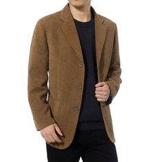 Business Single Breasted Slim Suit Coat-US$38.96