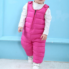 Baby Winter Down Jumpsuit For 6-48M