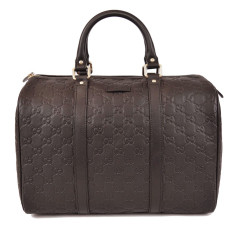 Gucci 265697 GG Guccissima Boston Tote Leather Bag (Dark Chocolate) RM7,490.00 Installment available