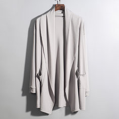 Mid Long Style Irregular Hem Cardigans-US$20.66