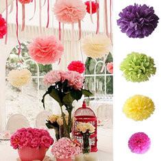 20-6'' 8'' 10'' 15''Large Medium Small Handmade Tissue Paper Poms Wedding Birthday Party Decoration-RM5.82