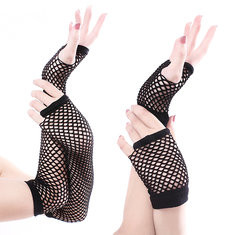 Coarse Fishnet Gloves Sex Long Gloves-RM16.43
