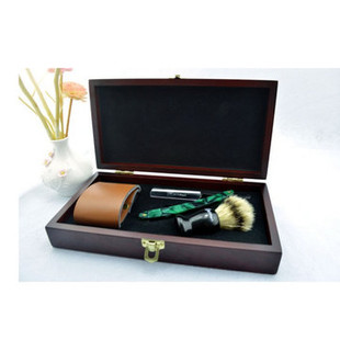 Wooden Box Vintage Shaver Set-US$55.13