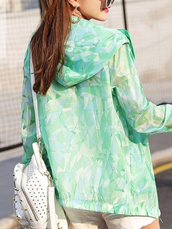 Long Sleeve Hooded Color Block Women's Su-RM104.02