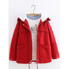 Casual Hooded Cotton Coat-RM 199.21