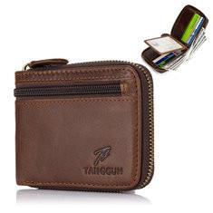 Bifold Men Genuine Leather Vintage 8 Card Slot Wallet