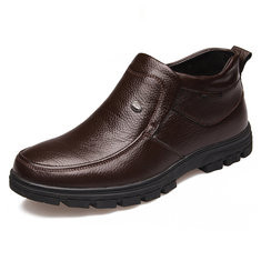 Men Genuine Leather Slip On Casual Boots-RM178.98