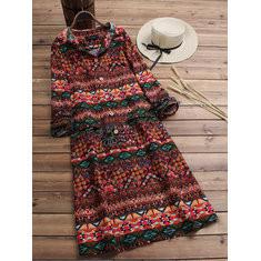 Ethnic Hooded Long Dress-RM167.28