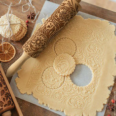 Christmas Embossing Rolling Pin-US$18.99